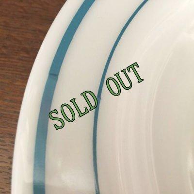画像3: sold コーニング ミルクグラス レストランウエア ブルーバンド・シリーズ スープ・ボウル