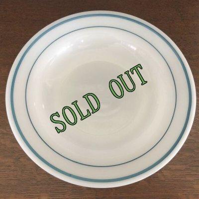 画像1: sold コーニング ミルクグラス レストランウエア ブルーバンド・シリーズ スープ・ボウル