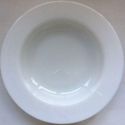 画像2: パイレックス英国JAJ テーブルウェア ミルクグラス・ホワイト スープボウル