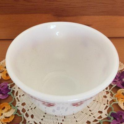 画像3: コーニング ミルクグラス ローズバット ぽってりカップ