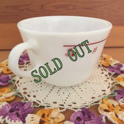 画像2: sold パイレックス ミルクグラス ローズバット ぽってりカップ