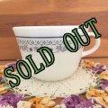 sold パイレックス ミルクグラス ブルーベリー・サマー・インプレッション ぽってりカップ