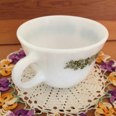 画像2: パイレックス ミルクグラス スプリングブロッサム・クレイジーデイジー ぽってりカップ
