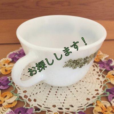 画像2: sold コーニング ミルクグラス スプリングブロッサム・クレイジーデイジー ぽってりカップ