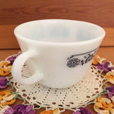 画像2: パイレックス オールドタウンブルー ミルクグラス ぽってりカップ