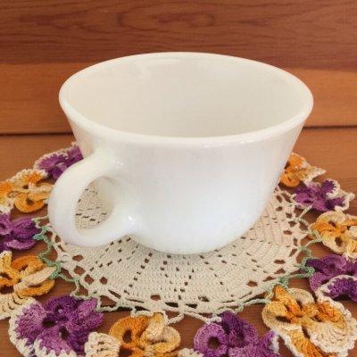 画像2: コーニング ミルクグラス ぽってりカップ