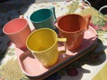 他の写真1: Vintage Colonial Plastics MFG Co. Divided Plate and Cup Set Turquoise
