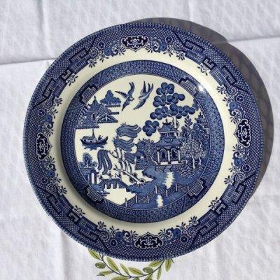 画像3: チャーチル社 ブルーウィロー ディナープレート made in England