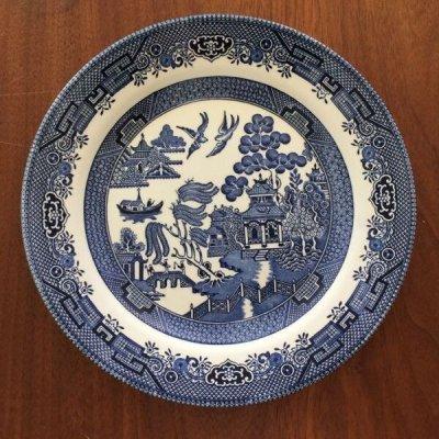 画像1: チャーチル社 ブルーウィロー ディナープレート made in England