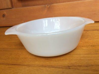 画像1: ファイヤーキング ミルクグラス  ミニキャセロール 12オンス(約350ml)