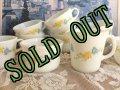 sold パイレックス ミルクグラス フラーテーション シュガー&クリーマー セット