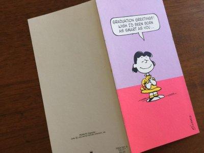 画像3: Vintage ピーナッツ 未使用 ルーシーの卒業おめでとうカード
