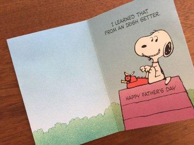 画像2: Vintage ピーナッツ 未使用 父の日・カード 封筒付