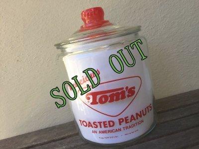 画像2: sold トムズ・ロースト・ピーナッツ カウンターディスプレー用ガラスジャー(大) 1960年代 コレクティブル非売品 デッドストック新品未使用