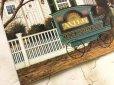 画像2: チャールズ・ワイソッキー(フォークアーティスト)1996年製新品ティンサイン(ブリキ看板)「J acob Amherst Dove牛乳配達人(1988年)」 (2)