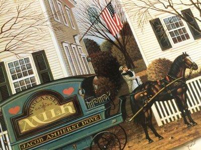 画像3: チャールズ・ワイソッキー(フォークアーティスト)1996年製新品ティンサイン(ブリキ看板)「J acob Amherst Dove牛乳配達人(1988年)」