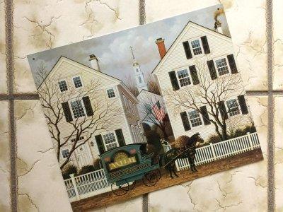 画像1: チャールズ・ワイソッキー(フォークアーティスト)1996年製新品ティンサイン(ブリキ看板)「J acob Amherst Dove牛乳配達人(1988年)」