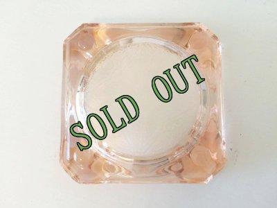 画像1: sold ビンテージ 灰皿 ピンク・ディプレッショングラス