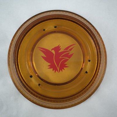 画像4: ビンテージ 灰皿 サンダーバード イン アンバーグラス (大)