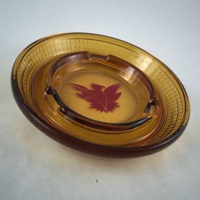 画像3: ビンテージ 灰皿 サンダーバード イン アンバーグラス (大)