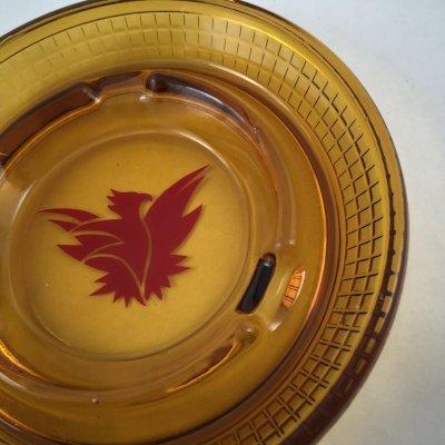 画像2: ビンテージ 灰皿 サンダーバード イン アンバーグラス (大)