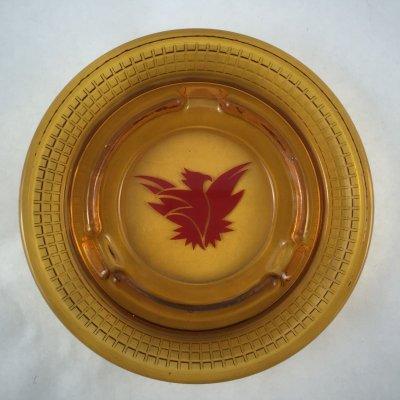 画像1: ビンテージ 灰皿 サンダーバード イン アンバーグラス (大)