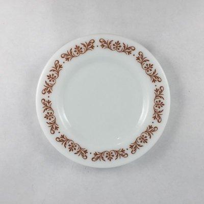 画像1: パイレックス ミルクグラス カッパーフィルグリー ブレッド&バタープレート