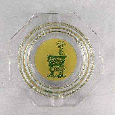 画像1: ビンテージ 灰皿クリア ホリデーイン