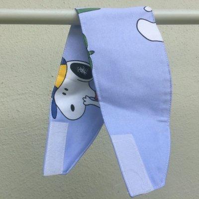 画像4: {値下げ}スヌーピー・ウッドストック 手作りカーテン タッセル付 その1