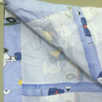画像2: {値下げ}スヌーピー・ウッドストック 手作りカーテン タッセル付 その2