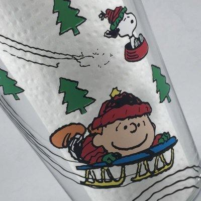 画像4: ピーナッツ クリスマスタンブラー スヌーピーのそり遊び 2013年