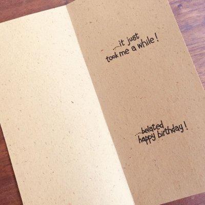 画像2: ビンテージ 未使用 ホールマーク ブラウン バースデー・カード 封筒付 #1