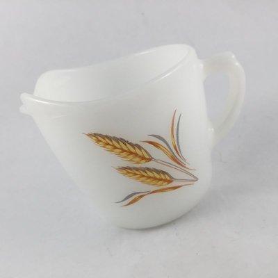 画像2: ファイヤーキング ミルクグラス ウィート/麦柄 クリーマー
