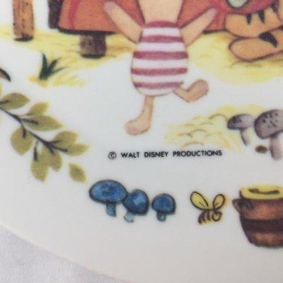 画像2: ビンテージ メラミック ディズニー くまのプーさん 皿  1960s'