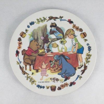 画像1: ビンテージ メラミック ディズニー くまのプーさん 皿  1960s'