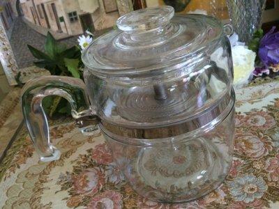画像2: パイレックス フレームウェア  9カップ・パーコレーター ガラスバスケット&ポンプ付フルセット
