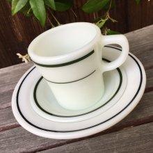 他の写真2: アンカーホッキング ミルクグラス・レストランウェア ブラック・ライン シリアル(デザート)ボウル