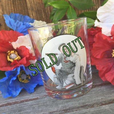 画像1: sold ノーマン・ロックウェル「サタデー・イブニング・ポスト」グラスウェア・コレクション セッティング・ワンズ・サイト