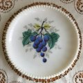ウェストモーランド ミルクグラス ビーズエッジ 手描きフルーツ サラダプレート グレープ その1