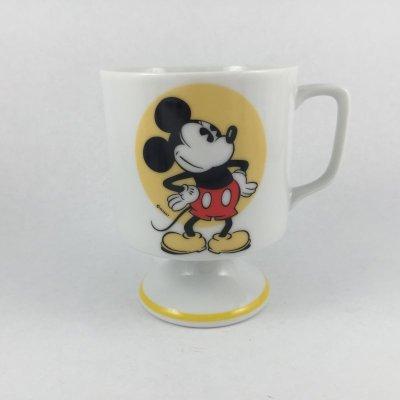 画像1: ディズニー フッテッド・イエロー・ミッキー・マグ ディズニーランド&ワールド 日本製