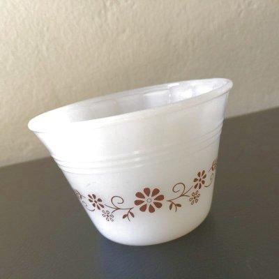 画像1: ターモクリサ/ダイナウェア ミルクグラス カスタードカップ
