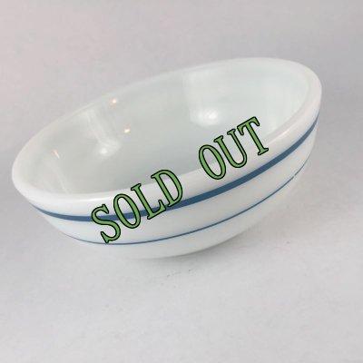 画像2: sold パイレックス ミルクグラス レストランウエア ブルーバンド・シリーズ ボウル