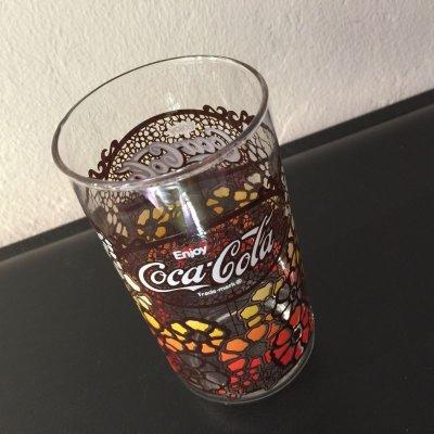 画像2: コカコーラ ステンシル・スタイル 花柄グラス 1970年代