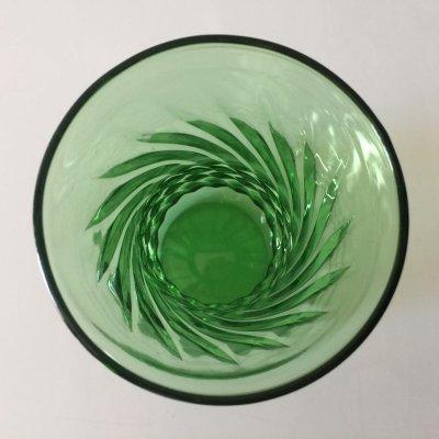 画像3: ファイヤーキング フォレストグリーン スワール 花瓶