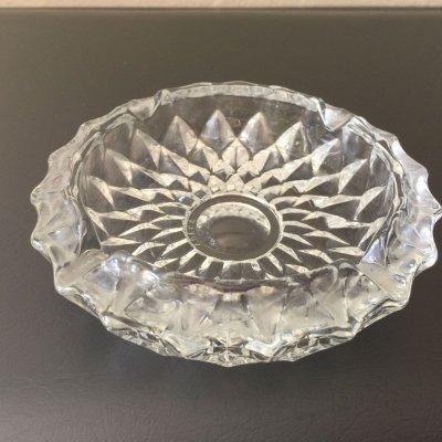 画像1: ビンテージ・リビー 灰皿 ダイヤモンドカット・クリアガラス カナダ製