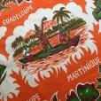 画像2: トロピカル オレンジ・カラー クロス・生地 (2)