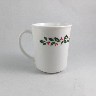画像1: コーニング クリスマス柄 ウィンターホーリー マグカップ