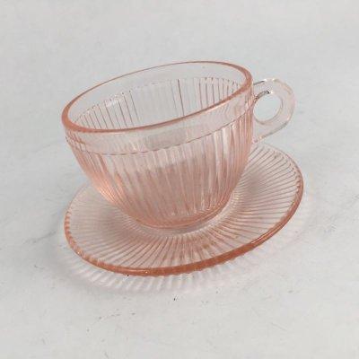 画像2: ジャネットグラス 子供用おもちゃ カップ&ソーサー ピンク・ホームスパン 1939~1949