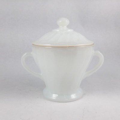 画像2: ファイヤーキング, ミルクグラス, シェル・ホワイト ゴールドトリム シュガー&クリーマー