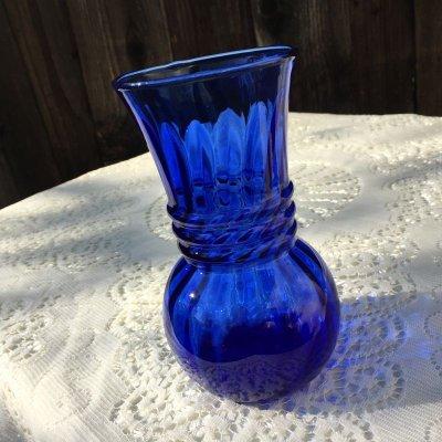 画像2: ファイヤーキング コバルトブルー スワール 花瓶